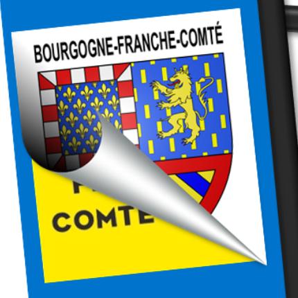 Blason seul: Bourgogne-Franche-Comté
