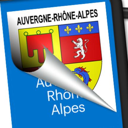Blasons seuls: Auvergne-Rhône-Alpes