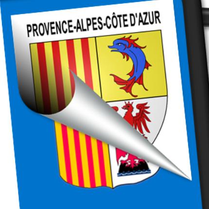 Blasons seuls: Provence-Alpes Côte d'Azur (PACA)