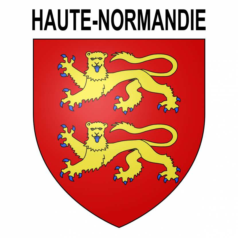 blason haute normandie autocollant pour plaque d. Black Bedroom Furniture Sets. Home Design Ideas